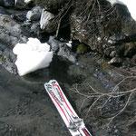 Skier wurden sicherheitshalber mal gebadet, sollte es die letzte Tour gewesen sein