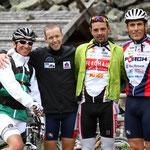 Lex neben den Pro's: Tom, Philip und Ossi