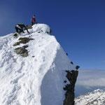 Konzentration zum Gipfelkreuz