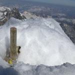 Berg Heil, das Kreuz kaum erkennbar