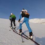 Lex mal wieder dabei auf einer Skitour