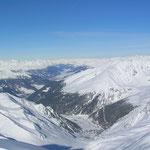 Panoramabild Richtung Reschensee