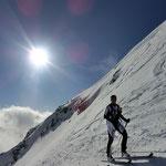 Die letzten Meter zum Gipfel, auf die direkte Variante.