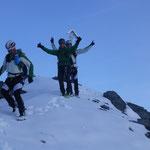 Rückzug zu den Skiern, von der Hohen Schneide
