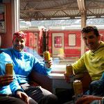 Die Heimreise (ein Teil) mit dem Zug, wie es sich in der Schweiz eben gehört