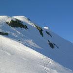 kurz vor dem riesigen (grins grins) Gipfelkreuz des Tartscher Kopfes