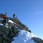 Die letzten Meter zum Gipfelkreuz....