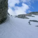 Die Schneedecke hielt aber soweit der Schnee halt noch ins Tal reicht