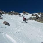 dann aber endlich mit den Skiern unter den Füssen