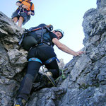 über die Kletterpasaggen Richtung Berglhütte