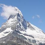 Das berühmte Matterhorn war leider immer im Nebel versteckt und zeigte sich kaum