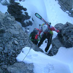 Nach der Leiter, wo wir nun wieder auf Schnee kommen
