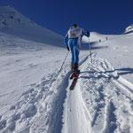 Optimale Spur und Schneebedingungen