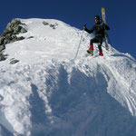 Nun der Abstieg……Wolfi einige Meter zu Fuß …
