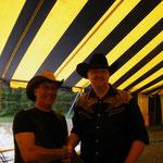 Avec un fan au Festival Country de St-Gabriel