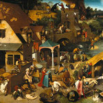 Pieter Bruegel der Ältere (1526/1530–1569) [Public domain], via Wikimedia Commons | http://commons.wikimedia.org/wiki/File%3APieter_Bruegel_the_Elder_-_The_Dutch_Proverbs_-_Google_Art_Project.jpg