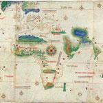 von anonymous Portuguese (1502) (Biblioteca Estense Universitaria, Modena, Italy) [Public domain], via Wikimedia Commons | http://commons.wikimedia.org/wiki/File%3ACantino_planisphere_(1502).jpg