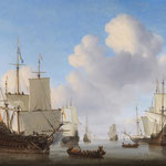 Willem van de Velde der Jüngere [Public domain], via Wikimedia Commons | http://commons.wikimedia.org/wiki/File%3AWillem_van_de_Velde_II_-_Dutch_men-o'-war_and_other_shipping_in_a_calm.jpg