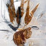 Organpflanze, Mischtechnik auf Papier, 70x50 cm