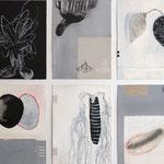 Zehn Poeme zur Natur, Mischtechnik auf Papier, je 30x20cm