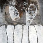 Twins,  Mischtechnik auf Papier, 100x75 cm