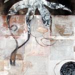 Vegetabilie II, Mischtechnik auf Papier, 100x75 cm