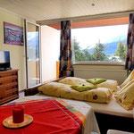 Wohn-Schlafraum mit Aussicht  - - Haus Löger Apartments - Windischgarsten