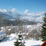 Balkonaussicht im Winter