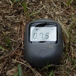 天神岬公園の線量は0.9まで上がりました。