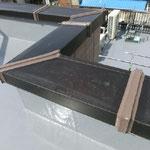 屋上、塔屋 アルミ笠木  ジョイント部ブリッジシーリング  シーリング材料 コニシMSシール