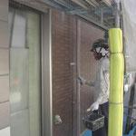 外壁防水-トップコート2層目