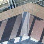 屋上、塔屋 アルミ笠木  ジョイント部ブリッジシーリング