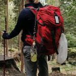 Flaschennetz - wurde auf 70 km  Wanderschaft getestet