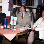 Teile unseres Vorstandes (v.l.n.r. Helmut Schwarz, Dipl.-Ing. Peter Reif, Grete Kaiser)