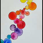 Bubbels Aquarell on paper 19x24cm