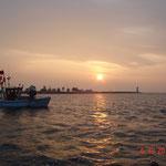 Sonnenaufgang über der Schleimündung