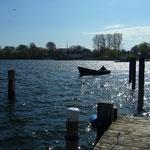 Blick von unserem Bootssteg