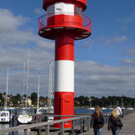 Hafenmole mit Leuchtturm in Eckernförde
