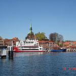 """Hafen Kappeln mit Ausflugsschiff """"Schlei-Princess"""""""