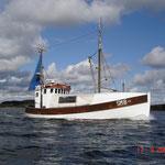 Fischkutter auf dem Weg zur Ostsee