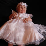 Taufkleid Mandy  Größe 0-3 Monate, 6-9 Monate + Stirnband