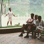 Der Hoan Kiem See – das Outdoor-Fitnessstudio der Altstadt und beliebter Treffpunkt Freizeitsuchende.
