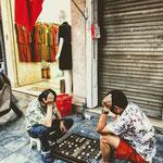 Das Leben spielt in Hanoi auf der Straße.