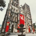 Die wunderschöne St. Josephs Kathedrale befindet sich inmitten der Hanoier Altstadt in der Nha Chung Straße.