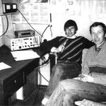 Stanisław SP9TPB oraz Antoni SP9FRZ ,rok 1991.