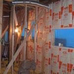 壁の断熱工事