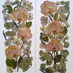Ramo de novia en dos láminas verticales.50x30cm.