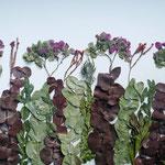 Ramo de novia como Sembradito con Hortensias y eucalipto. 65x40cm.