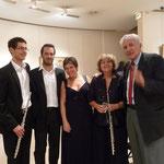 2008 - Paris - Concert Prodromidès - Martin Bosse-Platière, Christophe Neel, Corinne Sagnol, Sophie Dufeutrelle et le compositeur Jean Prodromidès/ With composer Jean Prodromidès