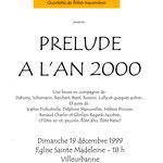 1999 - 1er concert/1rst concert